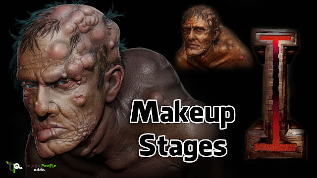 I Movie Makeup Stages Concept Arts Designs, Vikram, Shankar