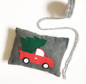 diy vintage truck pillow