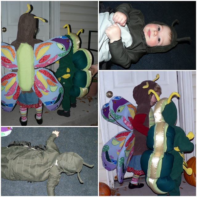 pill bug costume, lady bug costume, caterpillar costume