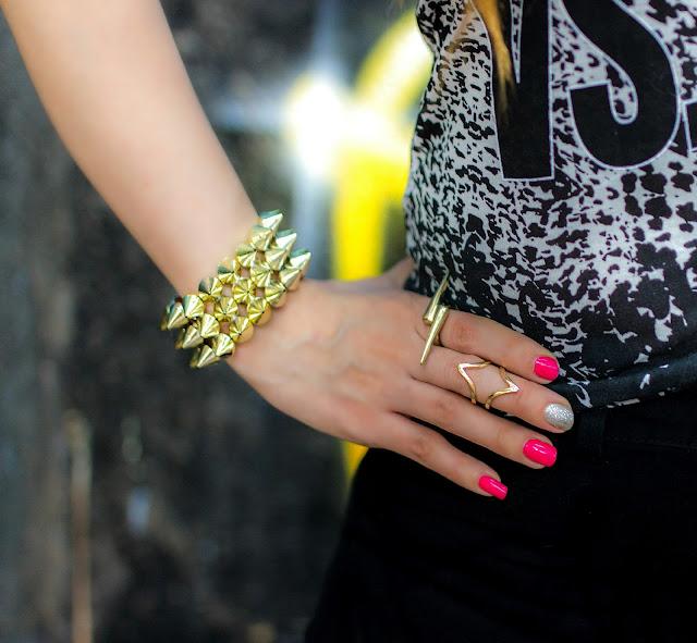 Spike Bracelet, Spike Ring, Midi Ring