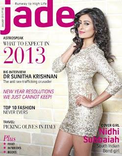Nidhi Subbaiah on the cover of Jade