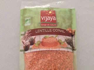 Lentille corail bio - Vijaya