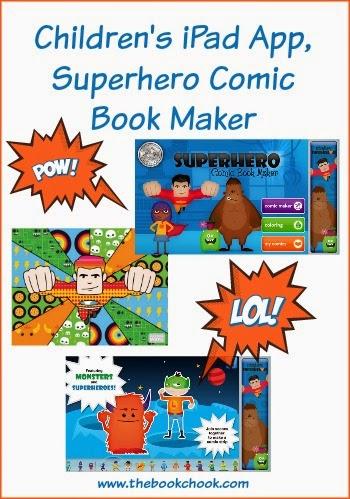 The Book Chook: Children's iPad App, Superhero Comic Book Maker