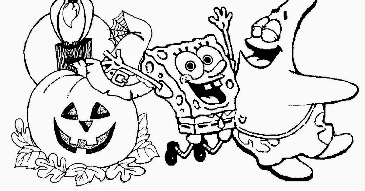 free spongebob halloween coloring pages - Coloring Pages Spongebob Halloween