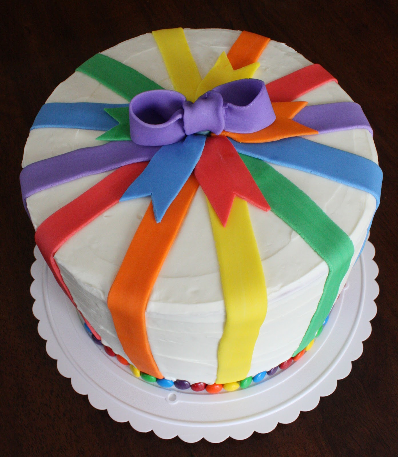Birthday Cake Rainbow Design : Straight to Cake: Rainbow Cake