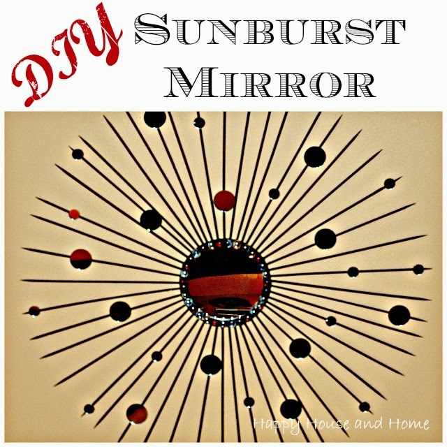 sunburst mirror, DIY sunburst mirror, bling
