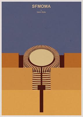 SFMOMA - Mario Botta - Posters de Arquitectura Minimalistas de André Chiote