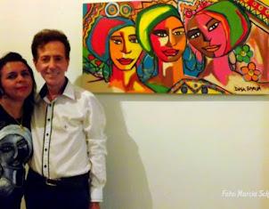 2014 - Dina Garcia e Ailton Pitombo colunista social de Feira de Santana
