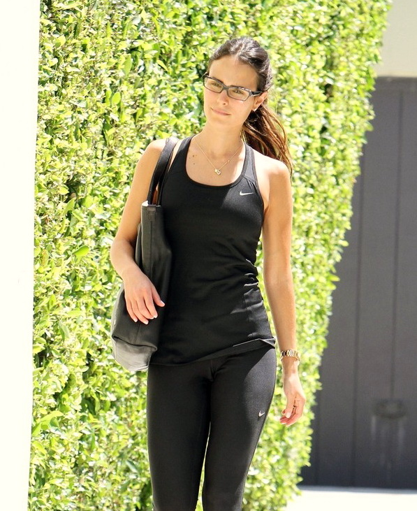 Jordana Brewster leaving a gym in os Angeles