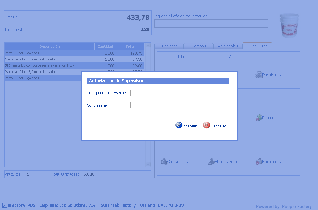 POS Web: eFactory Punto de Ventas Web iPOS
