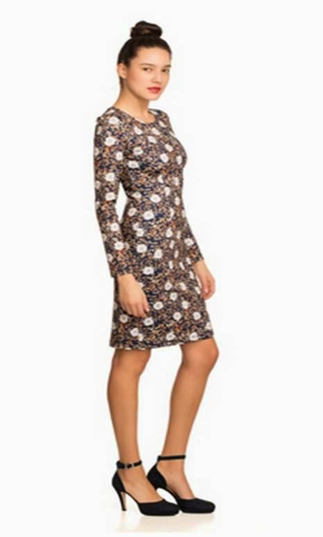 Bonded L/S Sheath Dress