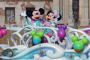 東京ディズニーランド ニューイヤーズグリーティング ミッキー&ミニー(2014年1月3日撮影)写真画像とカメラ設定