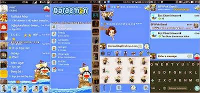 BBM Mod Doraemon versi 2.8.0.21 Apk - Klinik Tekno