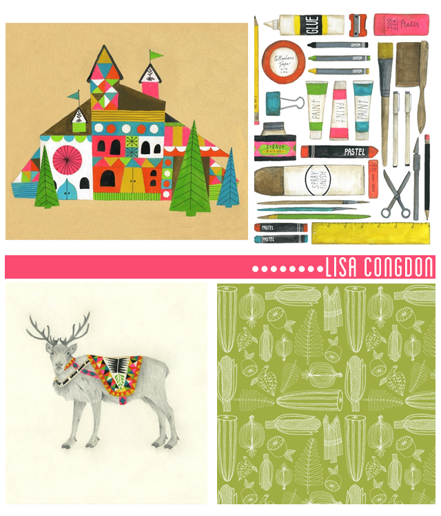 nordic house, art supplies, natural pattern, deer with blanket