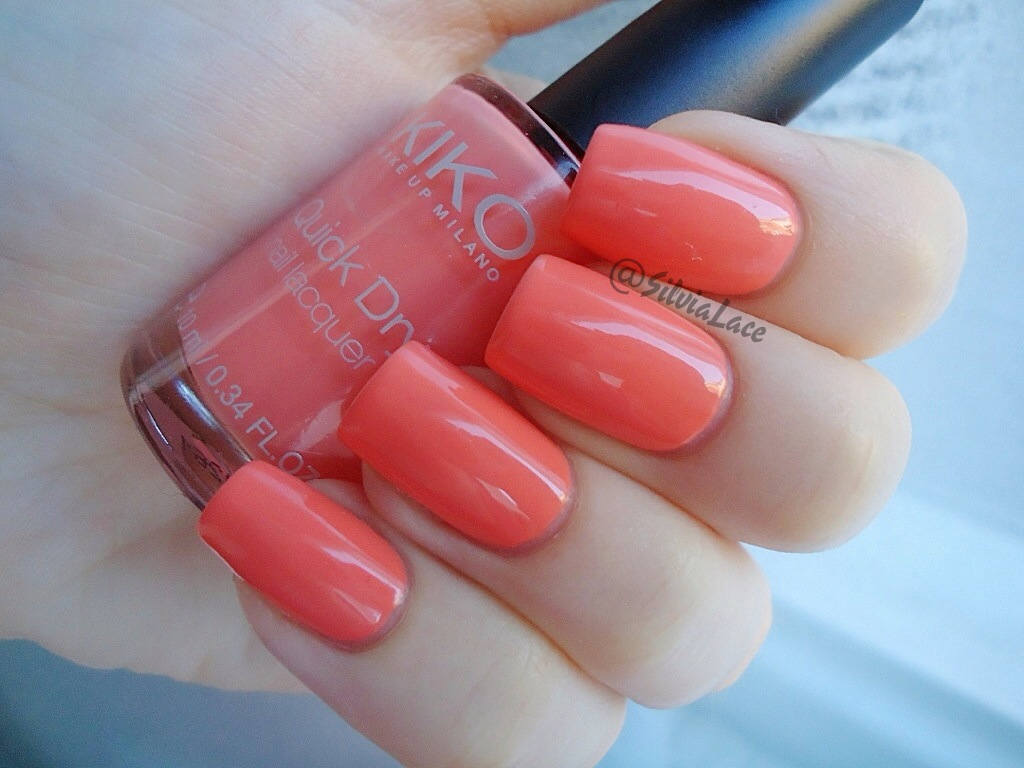 Silvia Lace Nails: Kiko Quick Dry Nail Lacquer 804 - Swatches and review