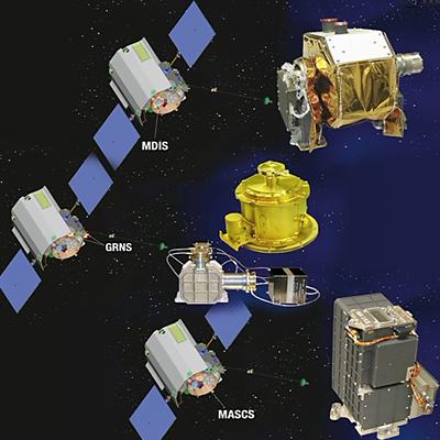Instruments on board Messenger. NASA-JHUAPL, 2011.