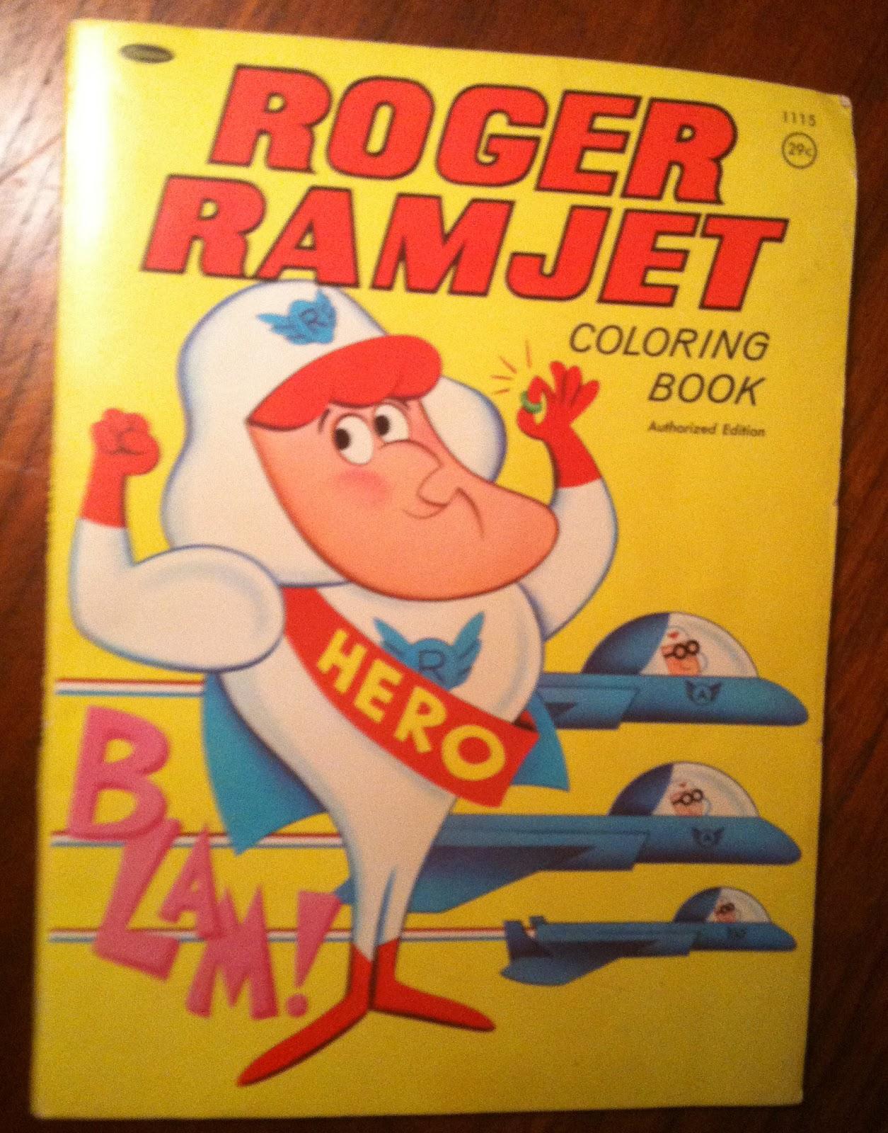 Flip Roger Ramjet Coloring Book JPG 1255x1600 Williams Sheet