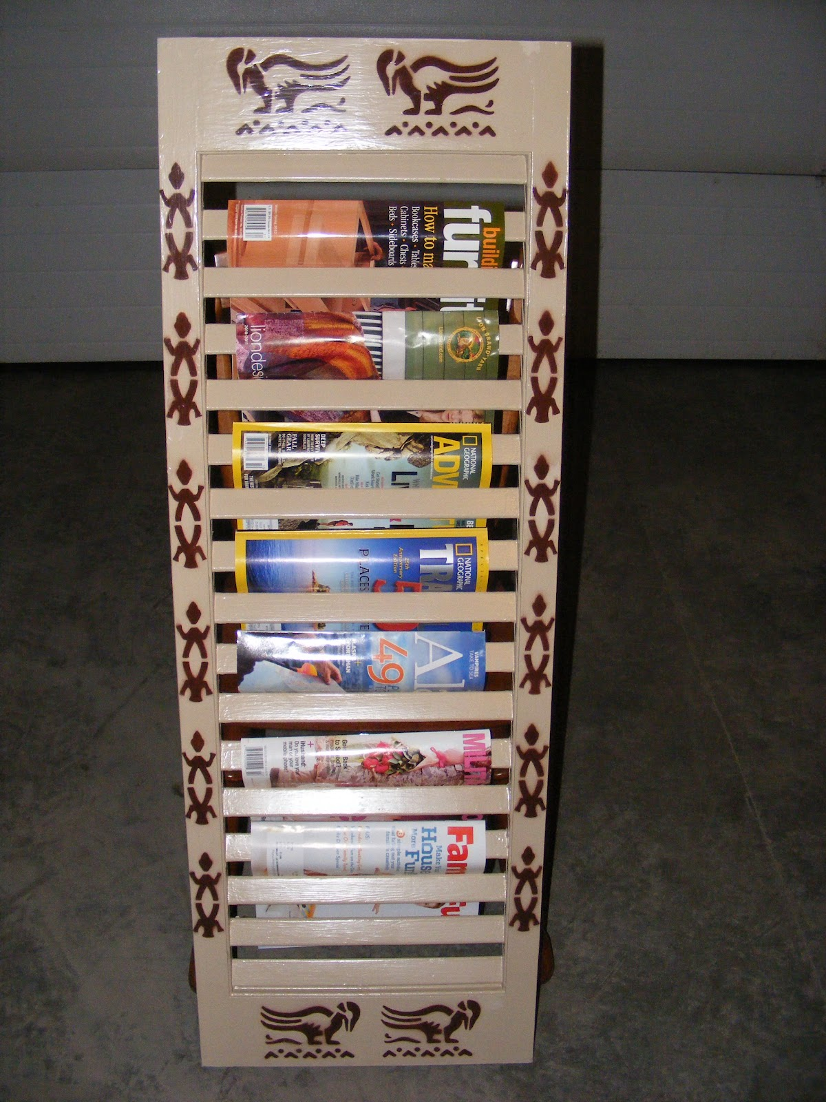 arctic lily 39 s loops diy magazine rack
