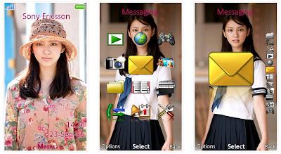 武井咲SonyEricsson手機主題for Aino﹝240x432﹞