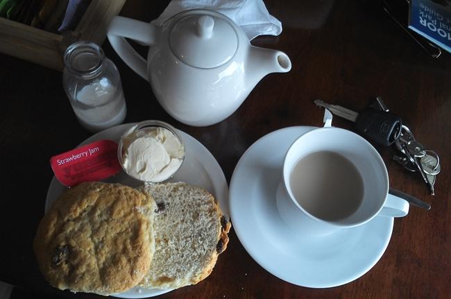 cafe scones milk cute pretty english british cup of tea