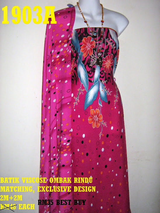 BVM 1903A: BATIK VISCOSE OMBAK RINDU MATCHING, EXCLUSIVE DESIGN, 2M+2M
