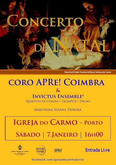 Porto, Concerto de Natal com o Coro APRe! de Coimbra