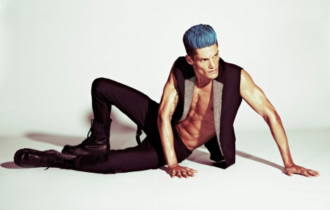 model with blue hair by Mark Cant