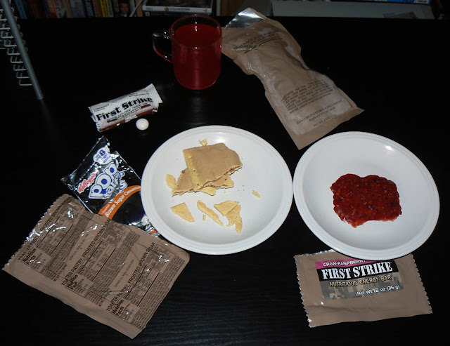 MRE Review: First Strike Ration Menu 2: Pop tart, first strike bar