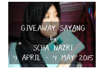 http://www.schanazri.com/2015/04/giveaway-sayang-by-scha-nazri.html