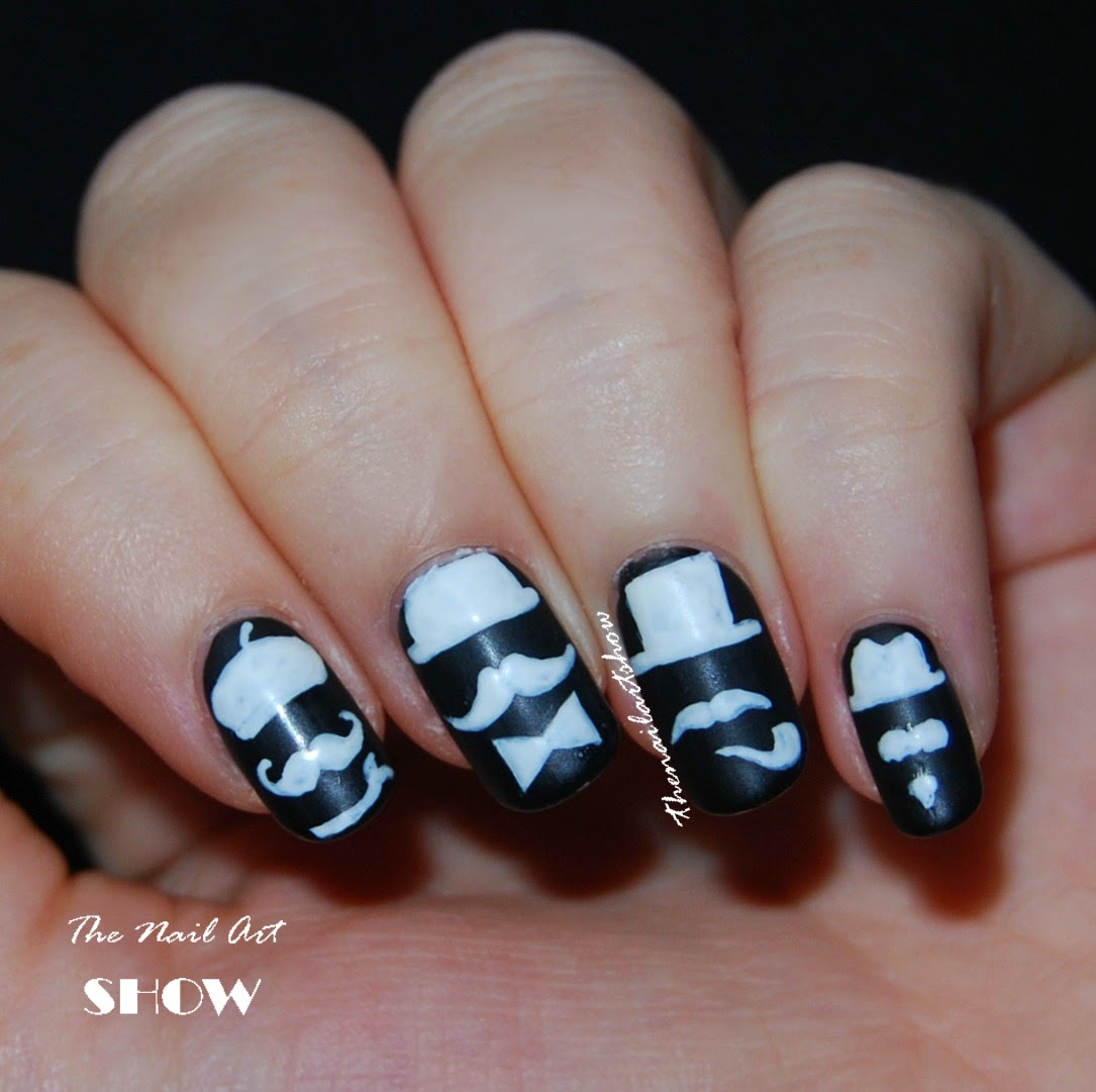 The nail art show movember nail art moustache party for this month i have some reviews and more nail art to come i hope you didnt miss me too much this whole week ive been absent prinsesfo Choice Image