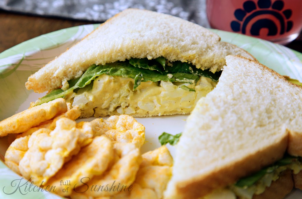 Kitchen Full of Sunshine: Simple, Easy, Egg Salad Sandwiches