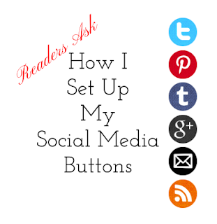 how I set up my social media buttons