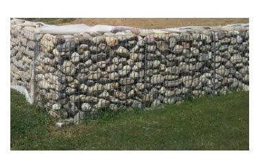 gabions muret soutènement  en kit comment poser  cage metallique gabion soi-même mur soutenement galet