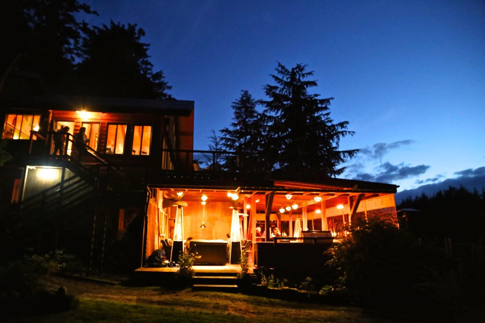 talon lodge by night, sitka, alaska