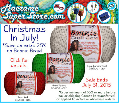 Save an additional 25% off Bonnie Braid - now through July 31, 2015
