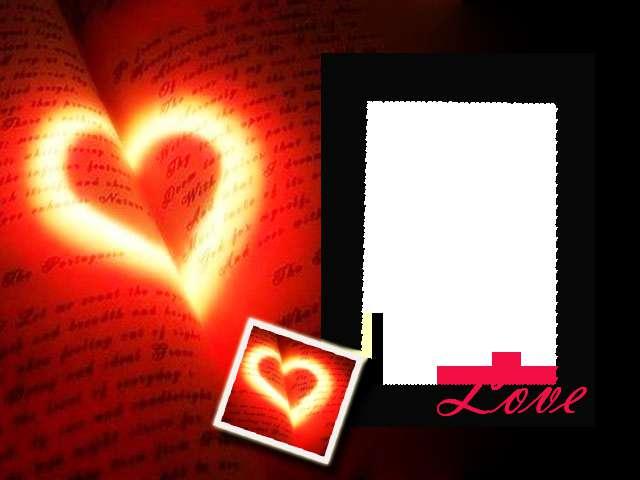 frame love merah