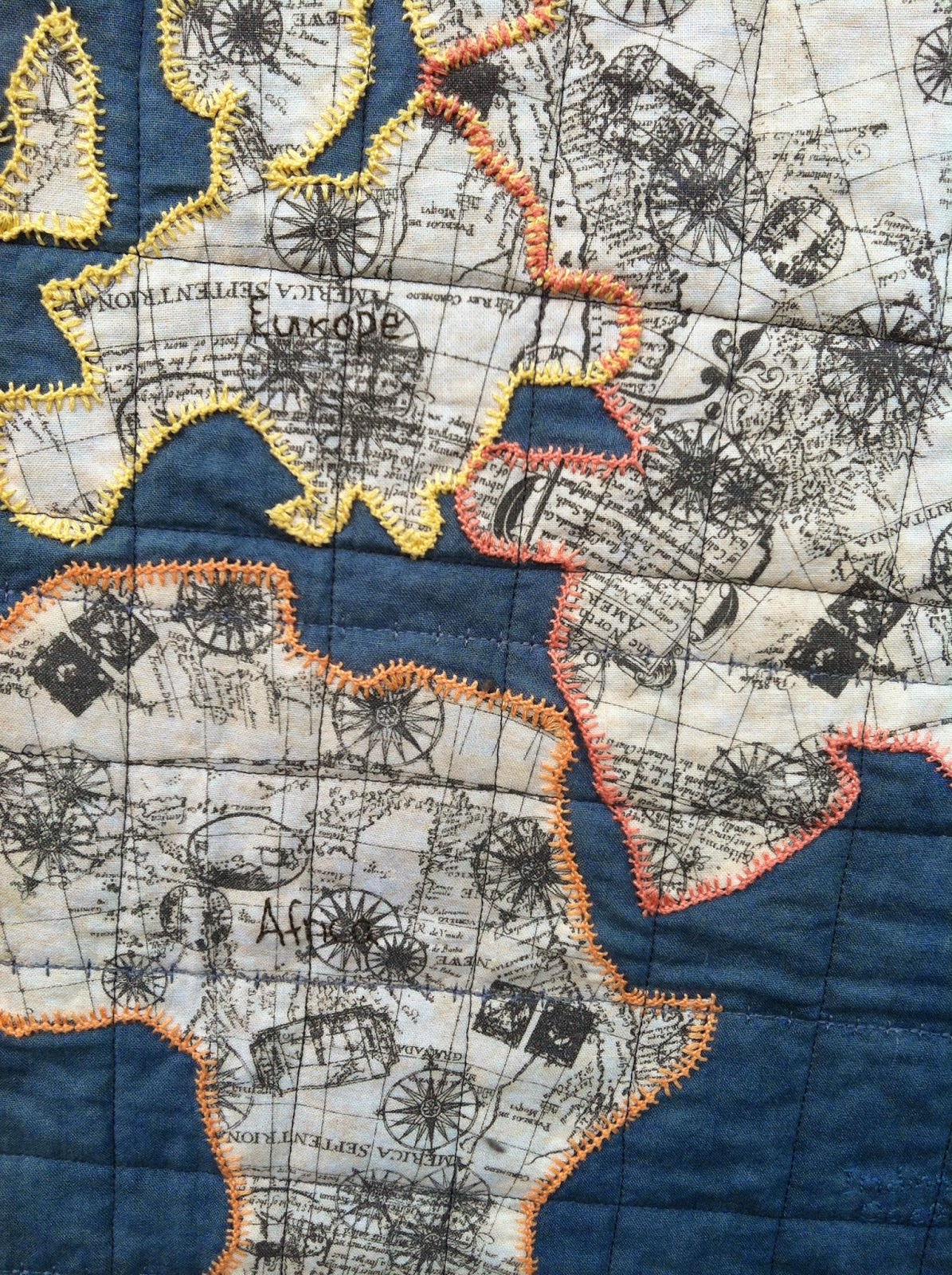 World Map Quilt Pattern.Sage November Sews Old World Map Quilt A Christmas Gift