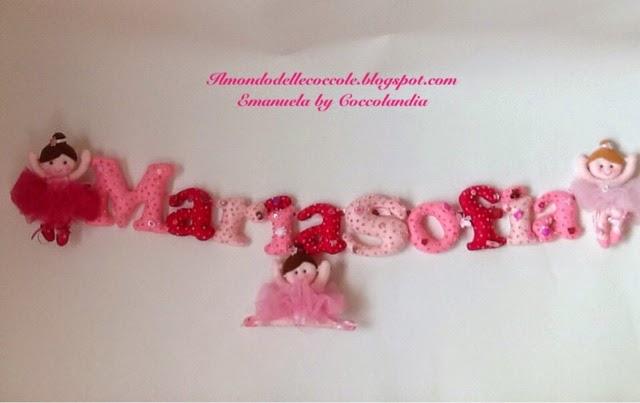 Banner, ballerine, feltro, pannolenci, lettere, handmade.