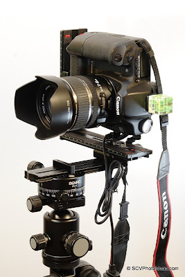 Benro PC-1 used in a Single-Row Panorama head structure