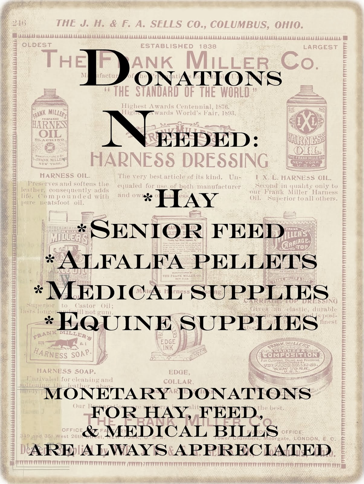 Donations Appreciated