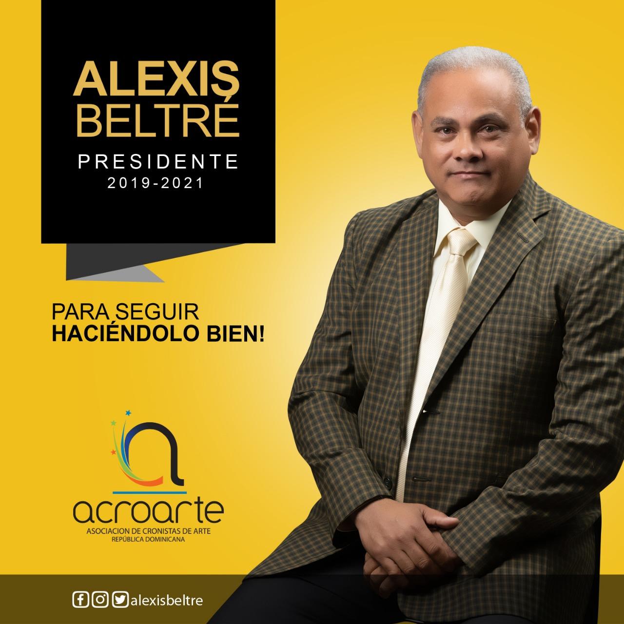 Alexis Beltré presidente de Acroarte