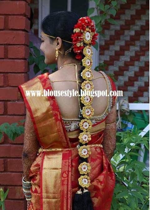 wedding back neck blouse