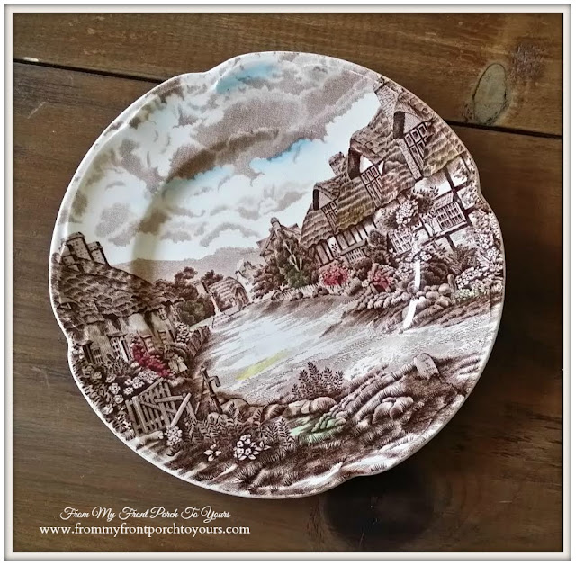 Brown Transferware-Thrift Store Shopping- From My Front Porch To Yours
