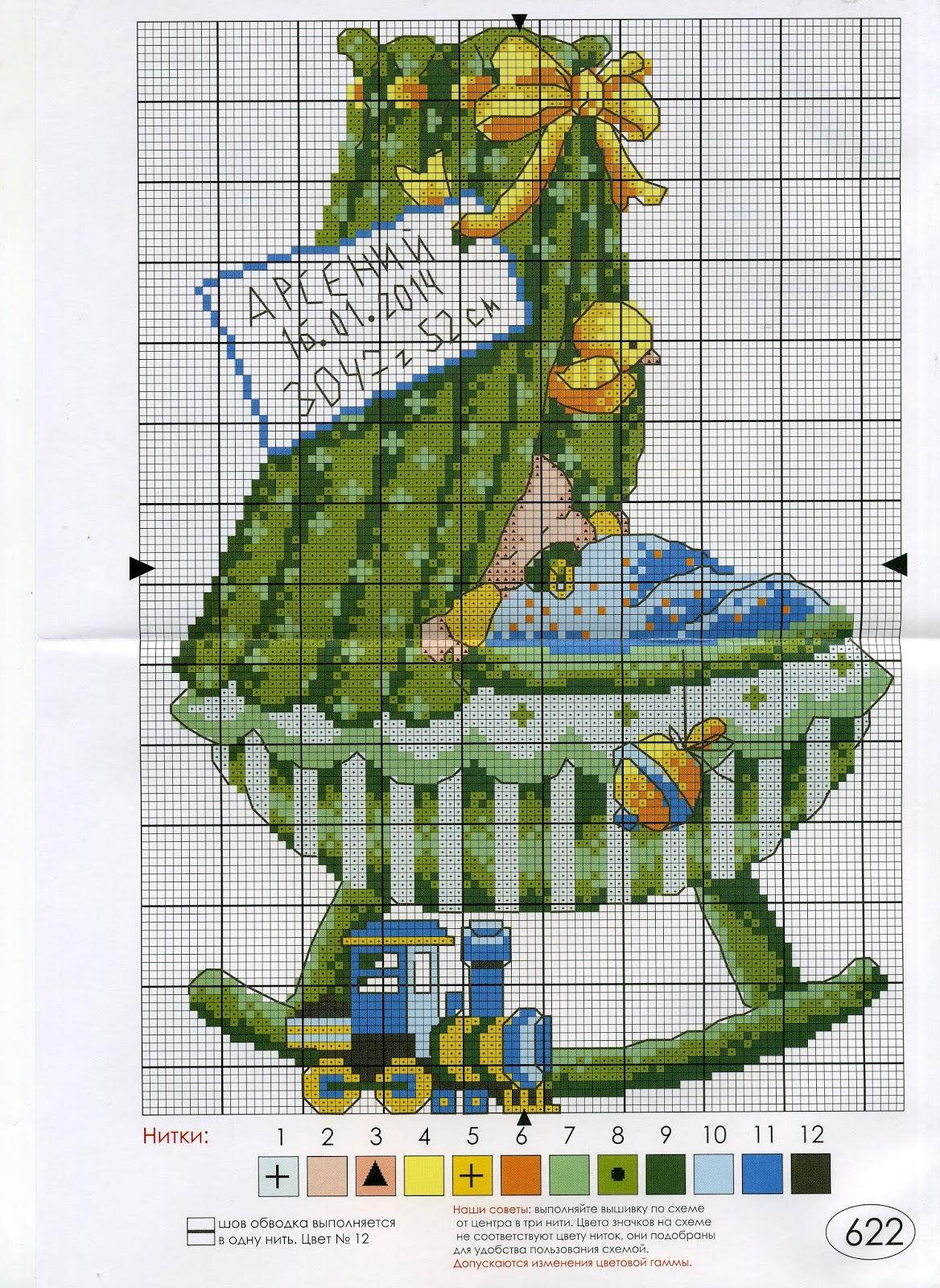 Метрики схема вышивки 79