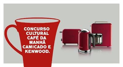 """Concurso Cultural """"Café da Manhã Com Camicado e Kenwood"""""""