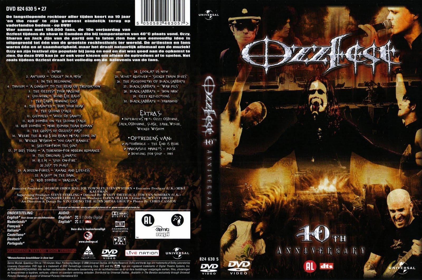 Baixar DVD Ozzy Osbournes – Ozzfest 10th Anniversary