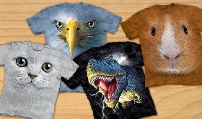 T-shirts with 3D Animal illusion: Amazing Photos