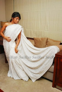 Michelle Maneesha Perera saree