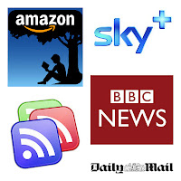 google apps - entertainment - amazon, sky+, google reader, bbc news, daily mail