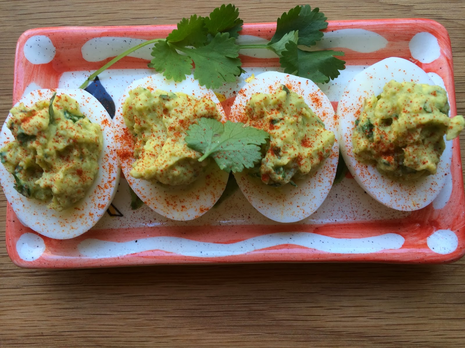 Clean Eating Avocado Deviled Eggs